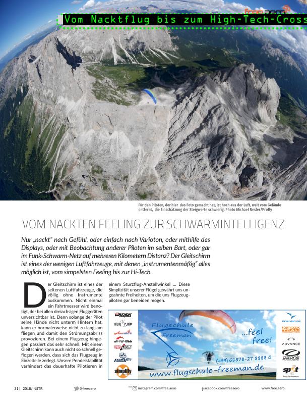 Trends 2018  Gleitschirm Motorschirm Free Aero Magazin